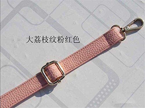 Balenciaga Handbag Strap - Artificial leather Max 140cm Adjustable replacement shoulder bag / messenger bag strap DIY (width 1.2cm, Pink)