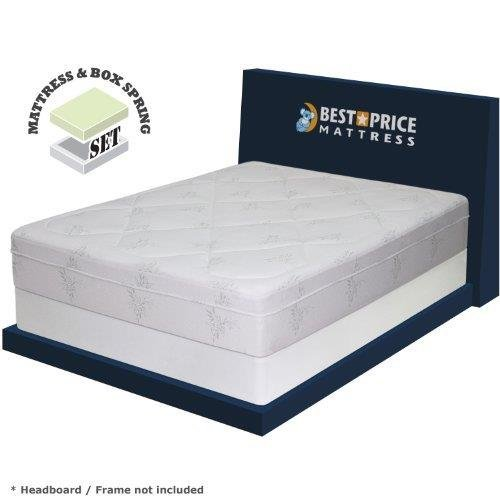 Best Price Mattress 12' Grand Memory Foam Mattress & 7.5' New Steel Box Spring/Mattress Foundation Set, King