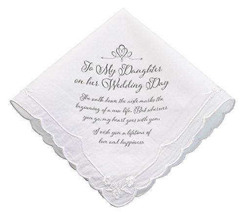 Lillian Rose Daughter Verse Wedding Gift Keepsake Hankie (Roses Hankie)