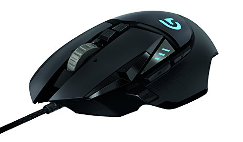 Logitech, Mouse Eronómico para Gamers G502 Proteus Spectrum, 11 Botones Brogramables, 12,000 DPI, Negro