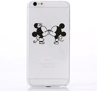 Trendy Connect Coque Trompe l'œil Dessin Animé Mickey Kiss pour iPhone 7 Plus & iPhone 8 Plus