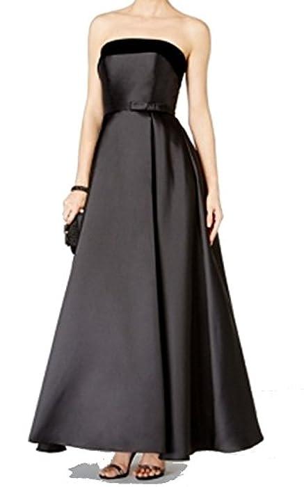 d9e449e5 Xscape Womens Velvet Trim Pleated Taffeta Ball Gown Black 2 at ...