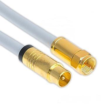 7,5 m Cable Sat Antena Coaxial 135dB Cobre Conector F a Conector coaxial Macho