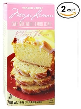 Trader Joe's Meyer Lemon Cake Mix with Lemon Icing NET WT.19 OZ - 2-PACK