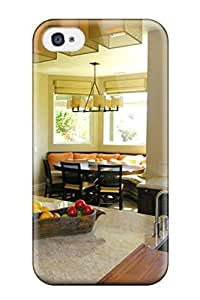For Iphone 4/4s Tpu Phone Case Cover(traditional Kitchen With Breakfast Nook)