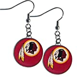 NFL Washington Redskins Charm Dangle Earrings