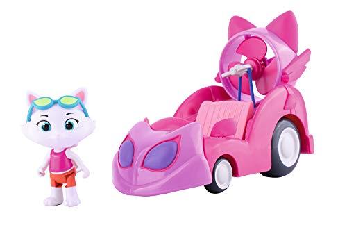 44 Gatos – Milady con vehículo, coche rosa Milady, incluye figura articulada (Smoby 180211)