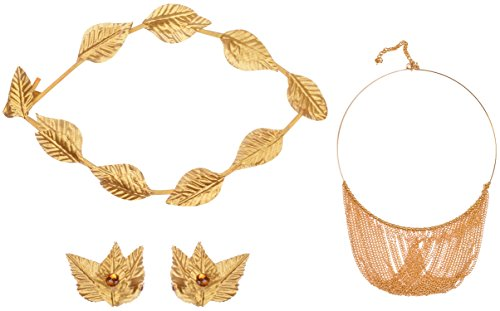 Male Goddess Costume (Roman Gold Leaf Headband Set Costume Party Accessories for Women and Men)