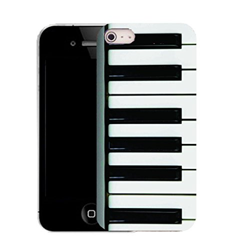 Mobile Case Mate IPhone 4s clip on Silicone Coque couverture case cover Pare-chocs + STYLET - piano keyboard pattern (SILICON)