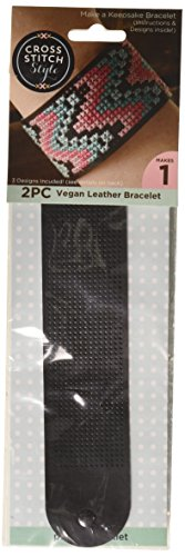3 Birds 60029 Faux Leather Bracelet Punched For Cross Stitch-8