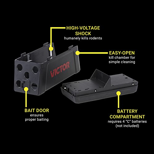 Victor M241 No Touch, No See Upgraded Indoor Electronic Rat Trap - 2 Traps