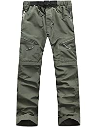 Men's Outdoor Quick Dry Hiking Pants Convertible Cargo Shorts
