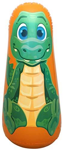 ImpiriLux 36 Tall Inflatable Bop Bag Toy with Crocodile Illustration | Great Gift of Kids, Birthdays, Christmas (Crocodile)
