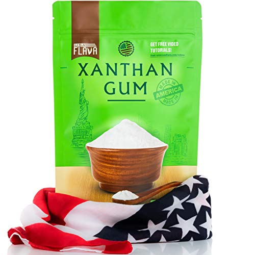 Made in USA Xanthan Gum (8 oz), Premium Quality, Food Grade Thickener, Non GMO, Gluten Free, Use in Cooking, Baking, Sauces, Soups and more. Suitable for Vegetarian, Kosher & Halal. Use for Keto Diet 1