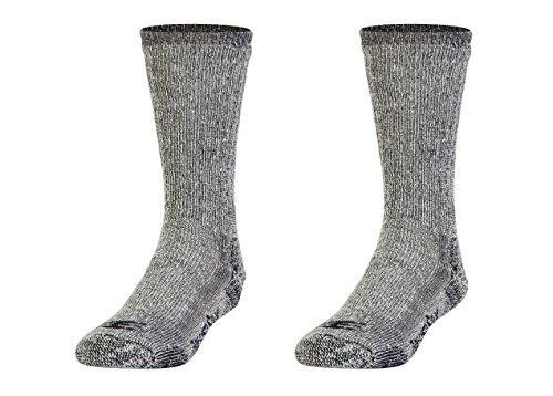 Gold Toe Men's PowerSox Wool Blend Boot Crew Socks 2 Pack (mens 9-12.5 Black Marl)