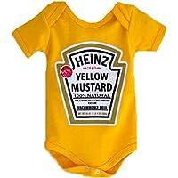 Body Infantil Mostarda Menino Menina