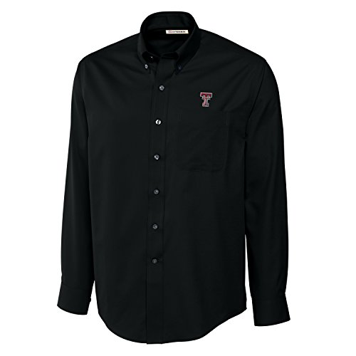 - Cutter & Buck NCAA Texas Tech Red Raiders Men's Long Sleeve Epic Easy Care Fine Twill Shirt, Large, Black