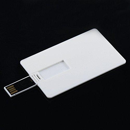 - LBZEZR 64GB Credit Card USB 2.0 Disk Flash Drive Blank DIY Memory Stick White