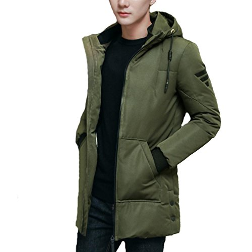 The New Down jacket Men Leisure Thicker coat , ArmyGreen , XXXL by YANXH outdoors