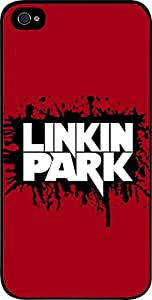 Linkin Park Logo-Splatter on Red Background- Apple iPhone 5 - 5s universal (NOT 5C) - Hard black plastic snap on case.