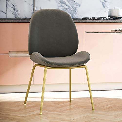 CosmoLiving by Cosmopolitan Astor Dining Chair Gray (Dining Chairs Metal Grey)
