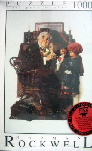 Norman Rockwell Doctor and the Doll 1,000 Pcs. Puzzle Plus Fix Puzzle Glue (Norman Rockwell Dolls)