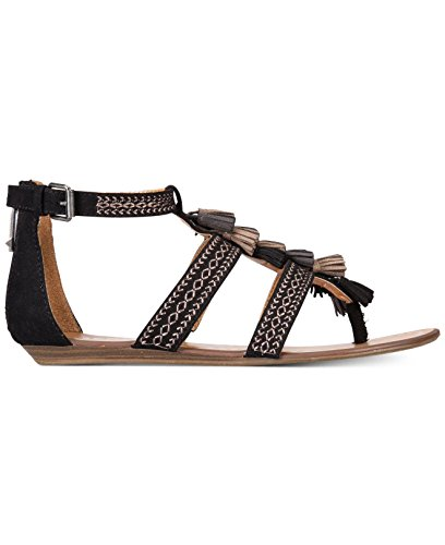 Report Womens Lanston Open Toe Casual Ankle Strap Sandals, Black, Size 6.5 ()