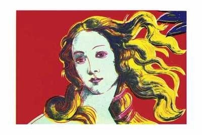 Art Poster Print - Birth Of Venus-Red - Artist: Andy Warhol - Poster Size: 40 X 28 inches