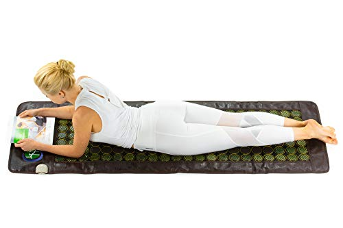HealthyLine Far Infrared Heating Mat 72″x24″|Natural Jade & Tourmaline, Heat Therapy |Physical Therapy Heated Negative Ions (Light)|Relieves Sore Muscles, Joints, Arthritis| US FDA Registered