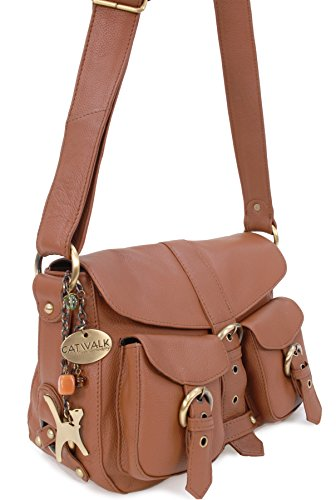 bandolera Tostado COLLECTION Bolso 9uORMTMbPmA Cuero CATWALK qt8APww