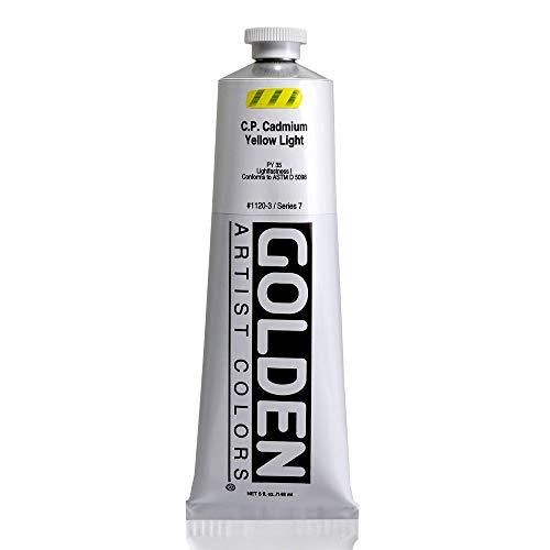 Golden Heavy Body Acrylic - C.P. Cadmium Yellow Light - 5oz - Light Cadmium Colors Yellow