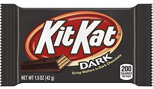 KIT KAT Candy Bar, Dark Chocolate Covered Crisp Wafers, 1.5 Ounce Bar (Pack of -