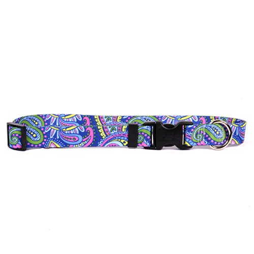 Paisley Cat Collar - Yellow Dog Design One Size Fits All Paisley Power Break Away Cat Collar, NULL