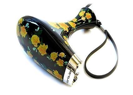 Corioliss – Secador de pelo de viaje, diseño floral, color negro