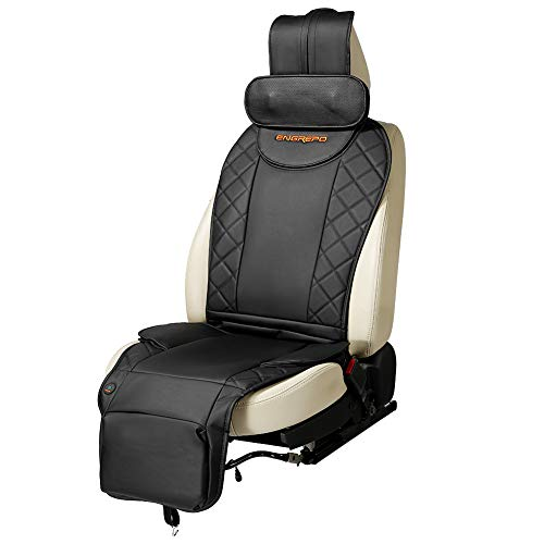 ENGREPO Massage Cushion, Car Seat Massager Pad, Finger-Press Neck, Back and Hip, Neck Height Adjustable, Airbag Type Massage, Safe and Comfortable, Designed Especially for Car Massage