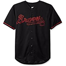 Atlanta Braves MLB Mens Majestic Black Fashion Jersey Big Sizes