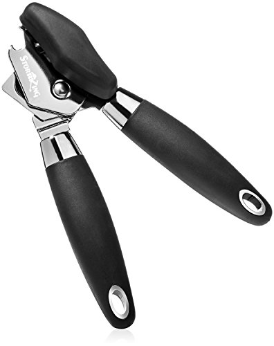 StormZing - Manual Can Opener, Best 3-in-1 Professional Tool with Tin and Bottle Opener, Sharp Stainless Steel Blade, Ergonomic Anti-Slip Heavy Duty Handle, Smooth Edge Opener, Ideal for Arthritis