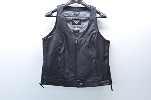 Victory Leather - Women's Borderland Vest - Black Leather By Victory Motorcycles - Size Large
