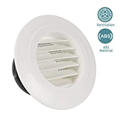 HG POWER 4 Inch Round Air Vent ABS Louve...