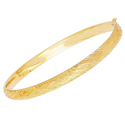 Children's 14k Real Gold Baby Kids Bangle Bracelet 5.5 Inches by Ritastephens