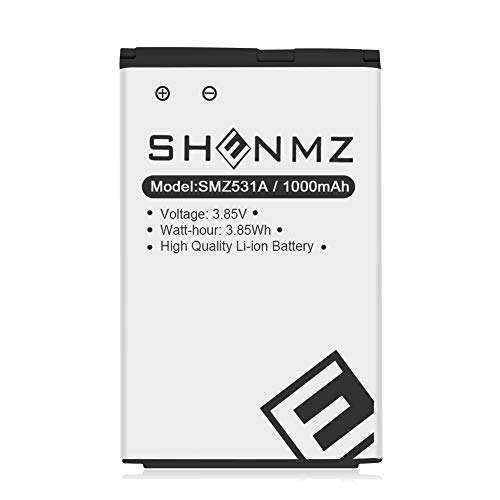 LG LGIP-531A Battery,Upgraded SHENMZ 1000mAh Replacement Battery for LG KF310, KU250, UN200,Compatible with LG Part Number: LG-IP531 / LGIP-531A SBPL0090501 / SBPL0090503 -