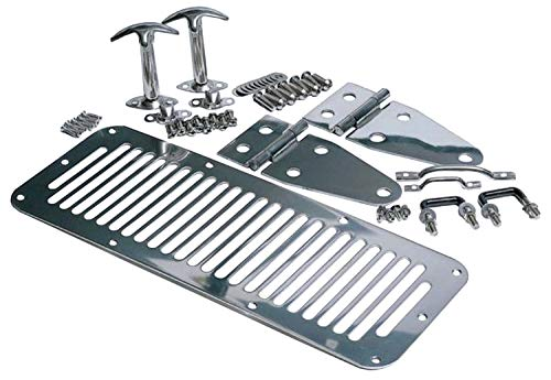 RAMPAGE PRODUCTS 7699 Stainless Complete Hood Kit for 1978-1995 Jeep CJ & Wrangler - Stainless Hood Kit Steel