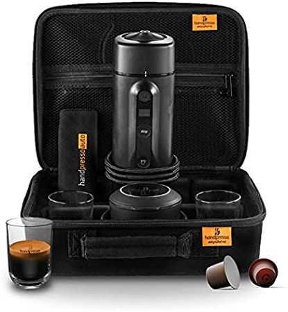 Handpresso Auto Set Capsule 48310 Set con cafetera espresso portátil para cápsulas para el coche 12V / 24V