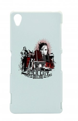 "Smartphone Case Apple IPhone 6/ 6S ""Rock city welcome Music Rock n Roll Rocker Bike Auto Reise Travel Palmen 80er 90er"" Spass- Kult- Motiv Geschenkidee Ostern Weihnachten"