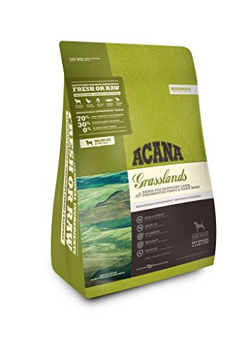 ACANA Grasslands Dry Dog Food. Made Grass-Fed Kentucky Lamb, Fresh Water Trout & Game Bird. 4.5 lb. Bag. Fast Delivery Just Jak's Pet Market Review