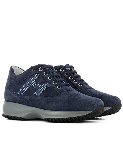 Hogan Sneakers Donna HXW00N0X290CR0U800 Camoscio Blu