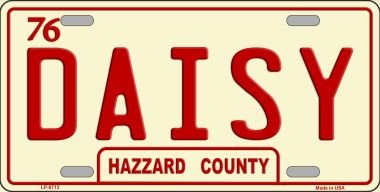 Daisy Hazzard County Novelty Vanity License Plate Tag Sign County Daisy
