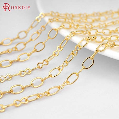 Laliva (23104)5 Meters Width:3.5MM Copper Necklace Chains Figaro Chains DIY Jewelry Findings Accessories Wholesale - (Color: Gold Color Plated)