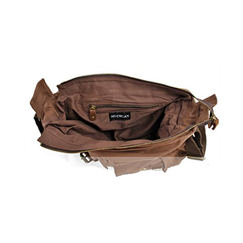 Plovers Bag Herren Damen Leinwand Canvas Tasche Schultertasche Messenger-Bag Umhängetasche grau XxKS2S1