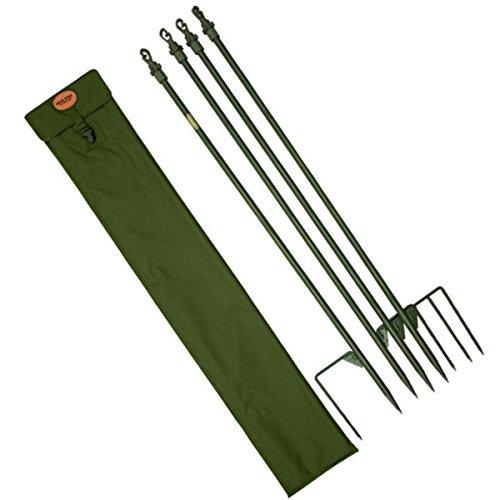 Jack Pyke Twist Lock verstellbar Hide Pole Set 4 grün